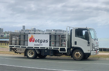 LPG delivery truck