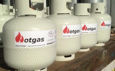 Recycled gas cylinders for reducing waste